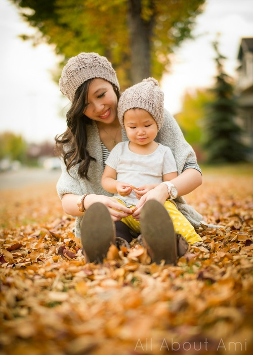 Cabled Slouchy Beanie Mom and Baby All About Ami