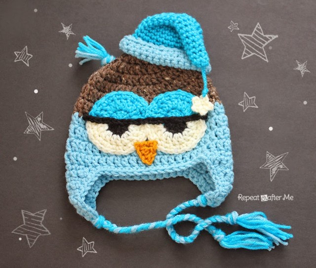 Crochet Drowsy Owl Hat Pattern Repeat Crafter Me