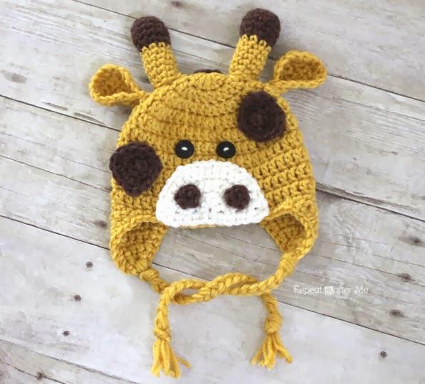 Crochet Giraffe Hat Pattern Repeat Crafter Me