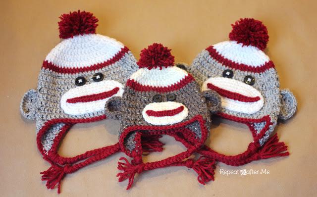 Crochet SockMonkeyHat Repeat Crafter Me