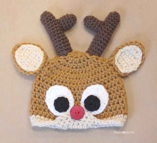 CrochetReindeer_Antlers Repeat Crafter Me