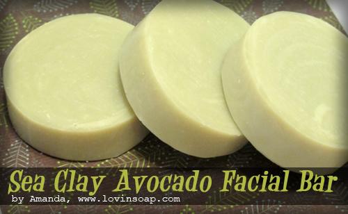 Sea clay avocado facial bar  soapqueen
