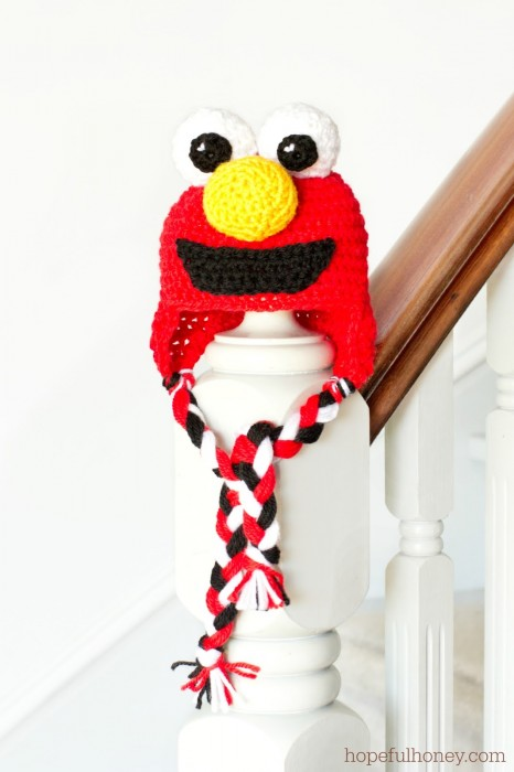 Sesame Street Elmo Inspired Baby Hat Crochet Pattern 1 Olivia Hopeful Honey