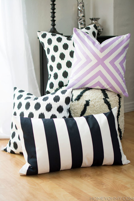 DIY-No-Sew-Pillow-Covers