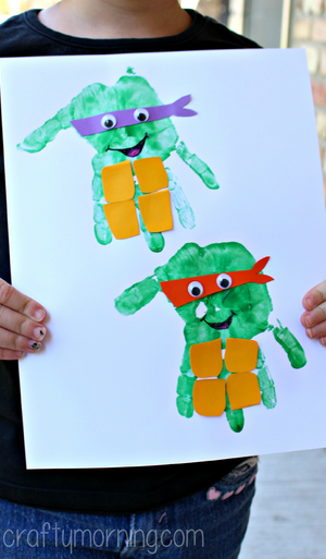 handprint-ninja-turtles-craft-for-kids-to-make