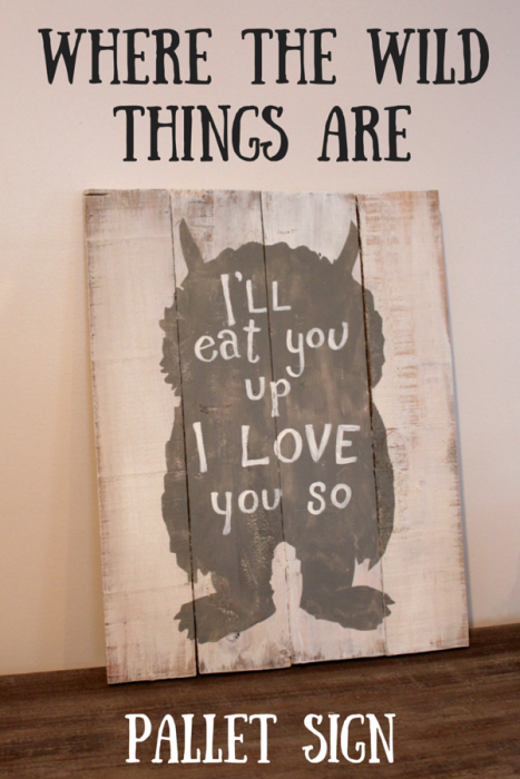 Where+the+wild+things+are+Pallet+Sign