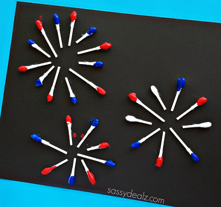 q-tip-fireworks-craft-for-the-4th-of-july