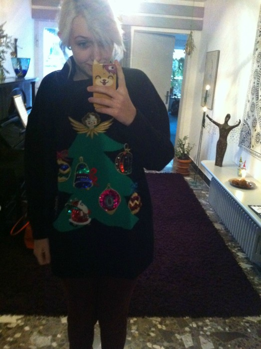 Christmas Tree and Ornaments Ugly Sweater