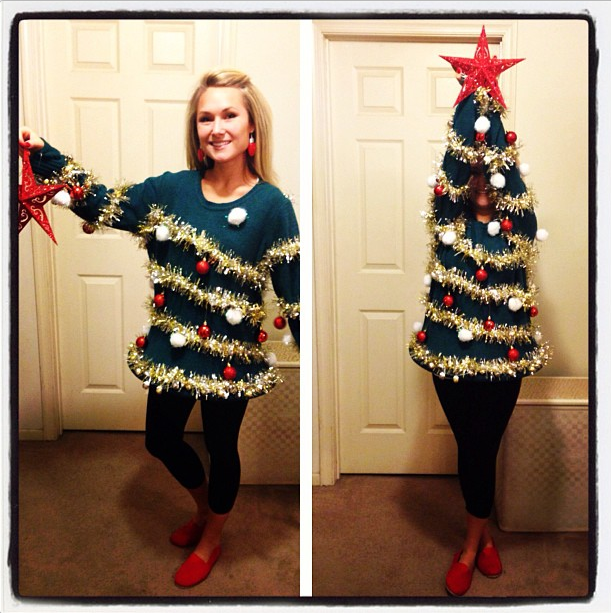 Christmas Tree with ornaments ugly sweater