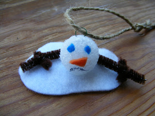 DIY Melted Snowman Ornaments