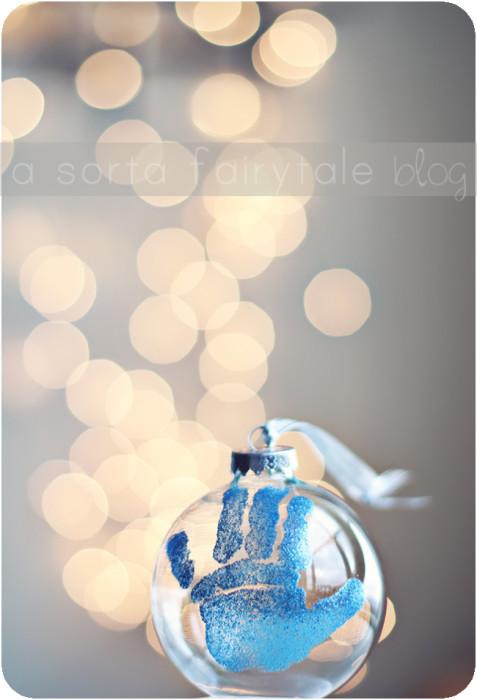 Glitter Handprint Ornament
