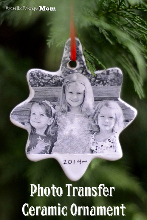 Photo Transfer Ceramic Ornament