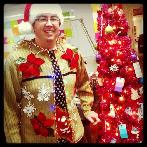 Pointsetta Christmas Sweater