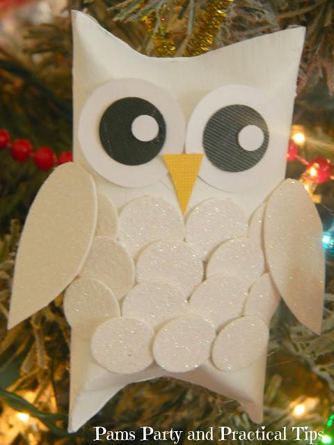 Snow Owl Ornaments