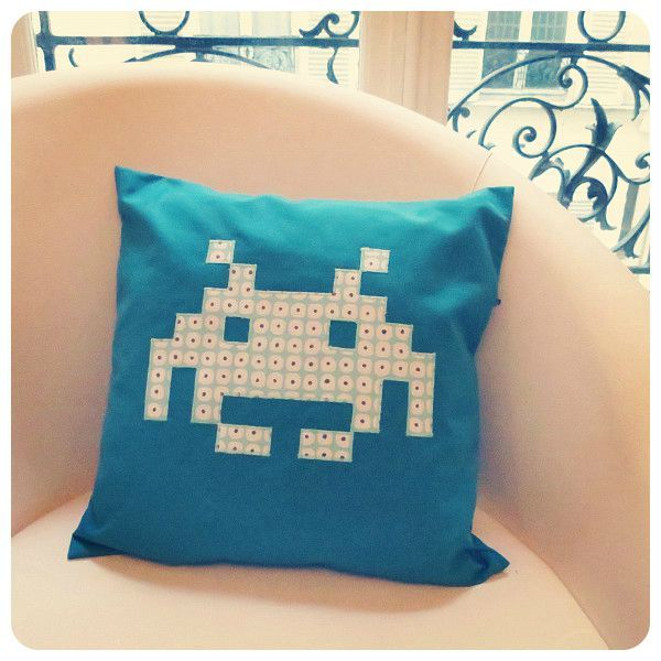 Space Invader Pillow