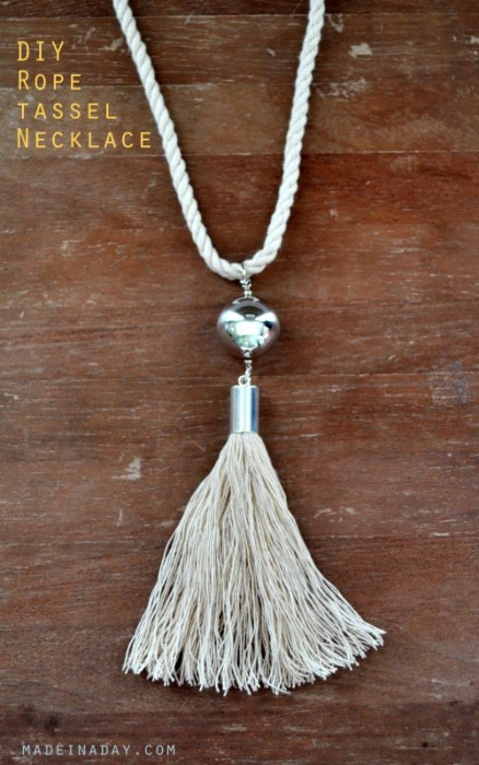 DIY Rope Tassel Necklace from MadeInADay