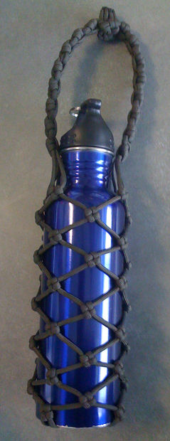 Paracord Wrap Bottle from Instructables