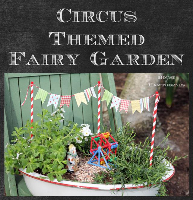 Circus Themed Fairy Garden