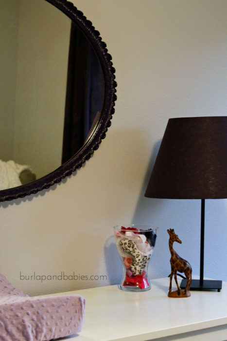 DIY Nursery Mirror Makeover