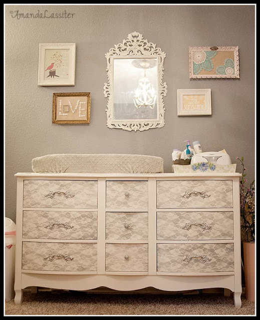Spray Paint a Vintage Nursery Dresser