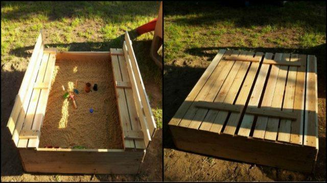 DIY Sandbox with Cover