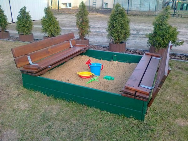 Sandbox Made Out of Recycled Pallets