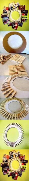 Clothespin Frame