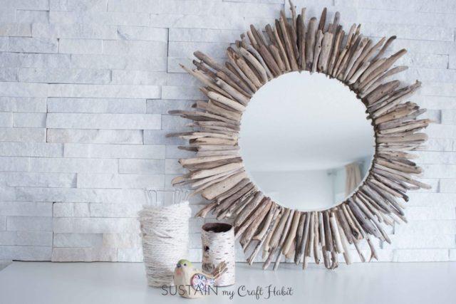 Easy DIY Starburst Mirror