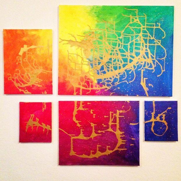 Rainbow Metallic Wall Art