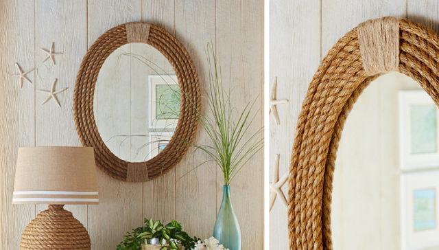 Rope Framed Mirror