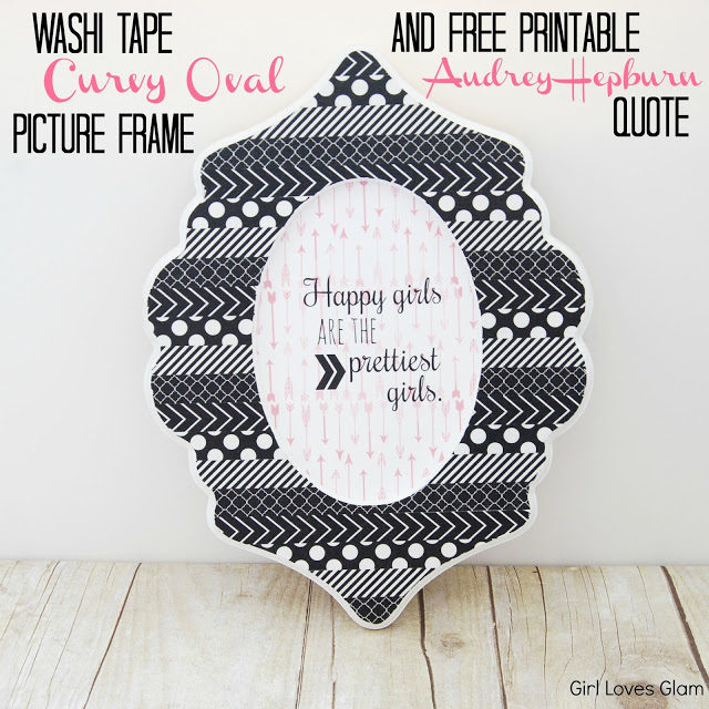 Washabi Tape Curvy Oval Picture Frame