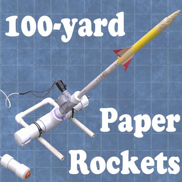 Lanceur de fusées en papier de 100 yards