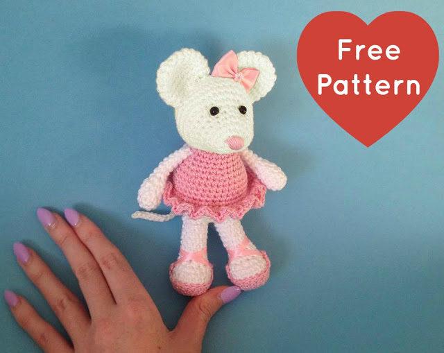 Ballerina Mouse Crochet