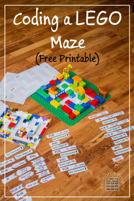 Codage d'un labyrinthe LEGO