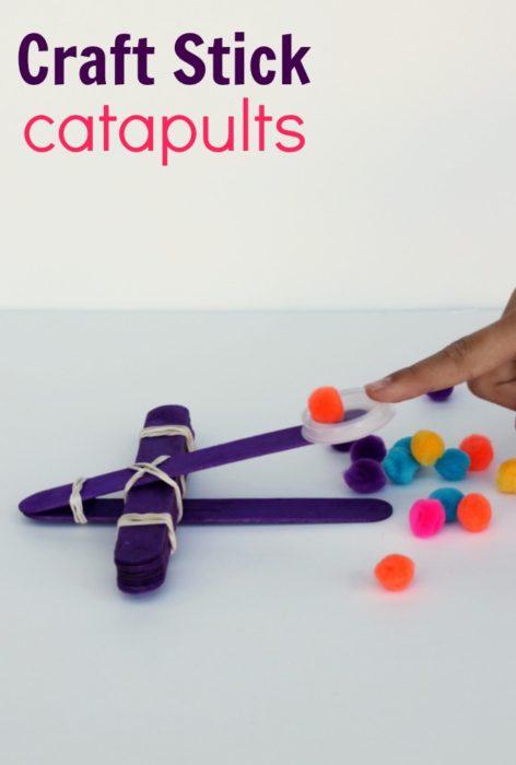 Catapultes DIY pour enfants