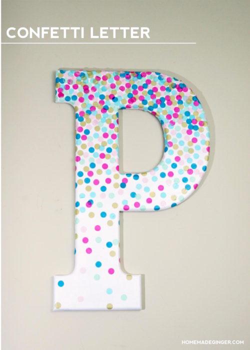 DIY Confetti Letter for Home Decor