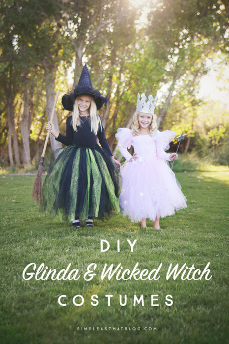 DIY Glinda and Wicked Witch Costumes