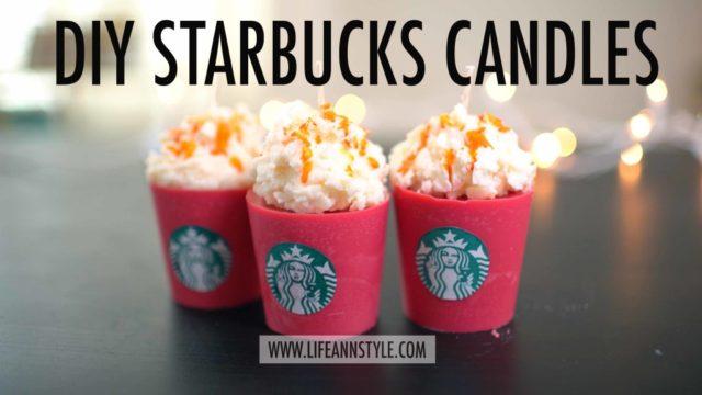 DIY Starbucks Candles
