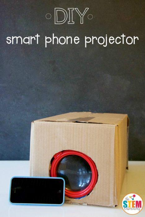 Projecteur de téléphone intelligent bricolé
