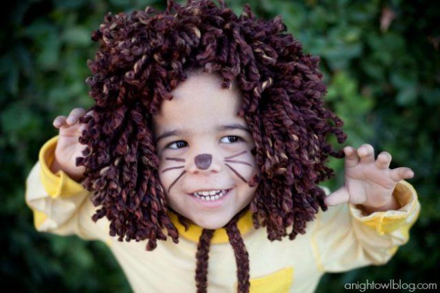 Last Minute No Sew Lions Mane Halloween Costume