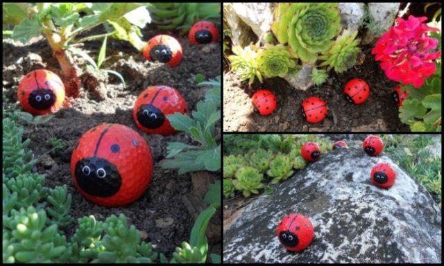 Make Your Own Golf Ball Ladybugs