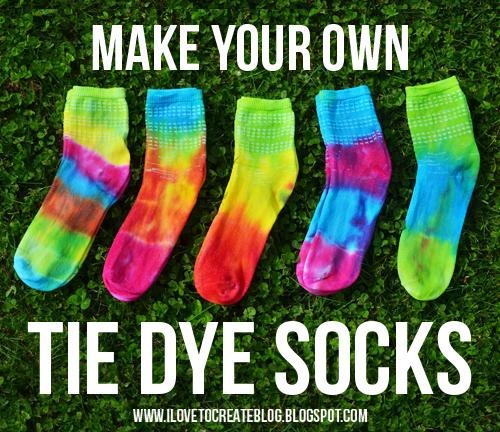 Make Your Own Tie Dye Socks
