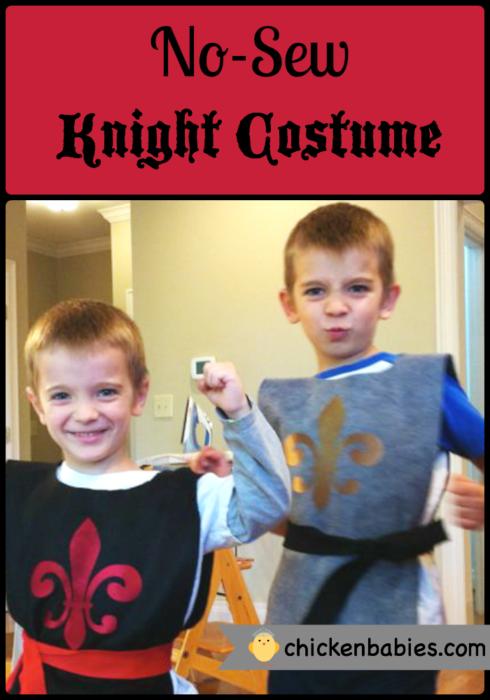 No Sew Knight Costume