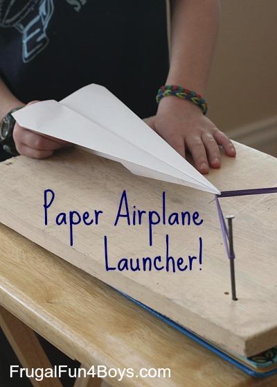 Lanceur d'avion en papier