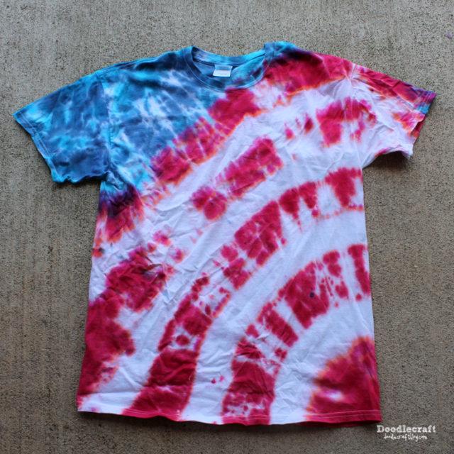 Patriotic Stripes Tie Dye TShirt