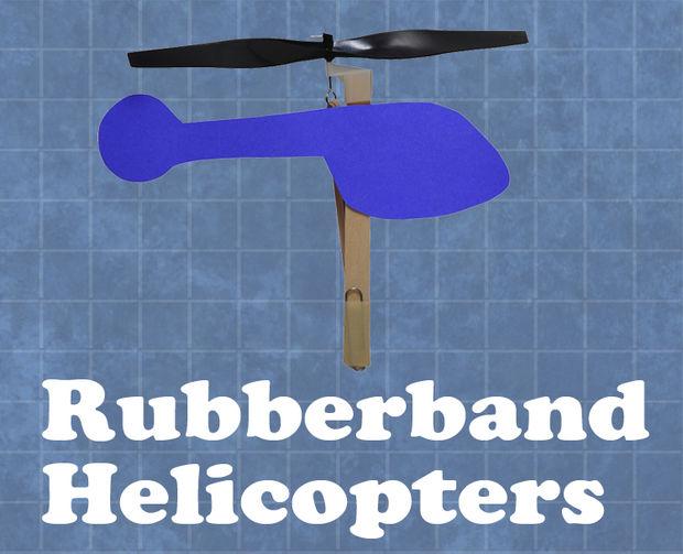Hélicoptères à bande de caoutchouc étape par étape