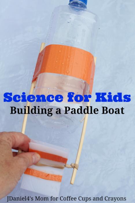 Science pour les enfants Construire un bateau à pagaie