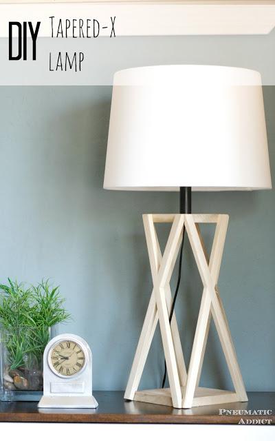 DIY Tapered X Lamp