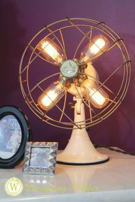 Flea Market Transformations Old Fan Into Lamp