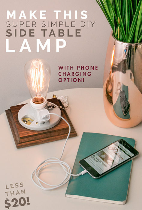Make This Super Simple Lamp with Phone Charging Option